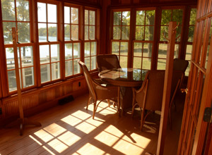 sunny room with many windows