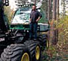 Man standing on tractor