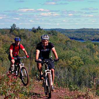 Bike riders in Cuyuna country recreation area