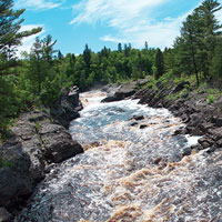 River flowing through Jay Cooke State Park