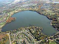 lake aerial shot