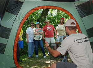 I Can Camp! instructor teaching people how to camp