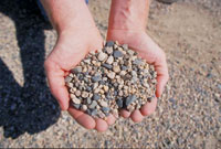 photo: Close up view of gravel
