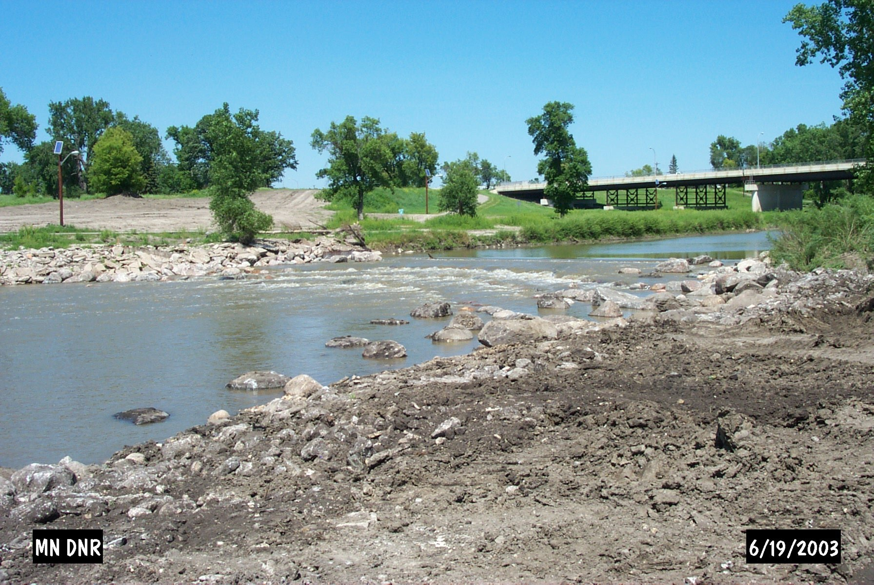 photo: Newly created rapids in Crookston