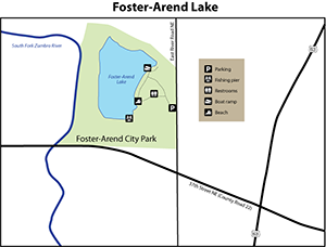 map of pond