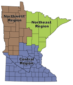 graphic: Minnesota Map with area regions highlighted