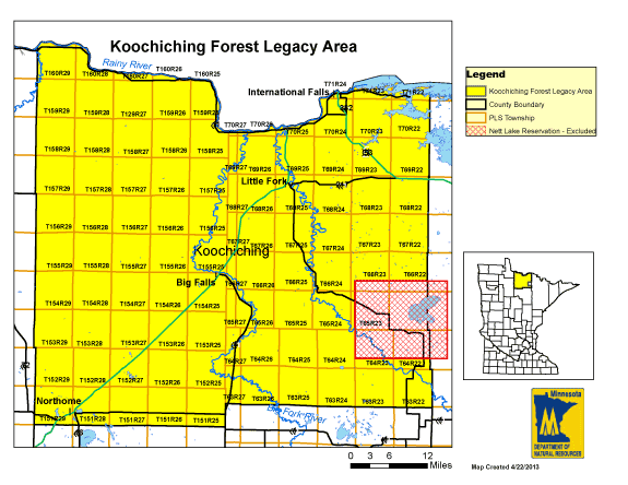 Koochiching Forest Legacy Area Map