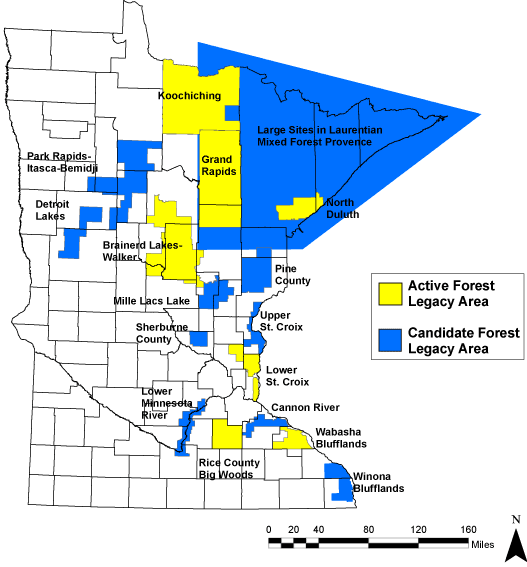 Minnesota Forest Legacy Area Map