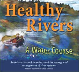 Cover of Healthy Rivers interactive CD ROM.