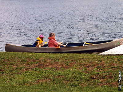 canoe on Buffalo Lake