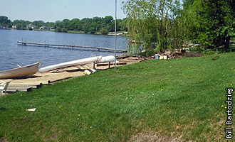 Lake Gervais project site before restoration