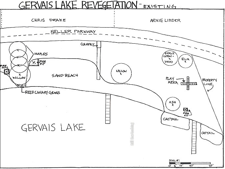 Lake Gervais project base map