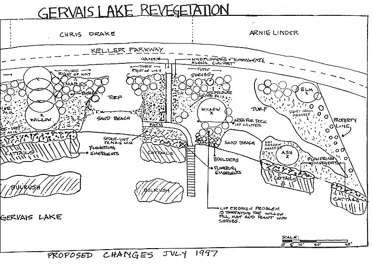 Lake Gervais project design map