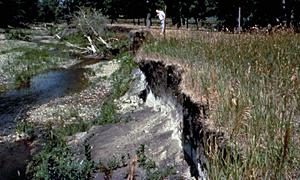severe bank erosion
