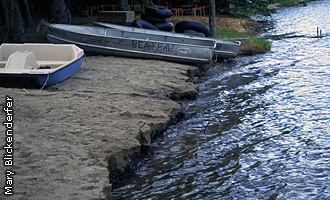 erosion caused by water level fluctuation
