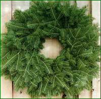 Balsam bough wreath.