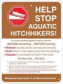 Sign: Help Stop Aquatic Hitchhikers