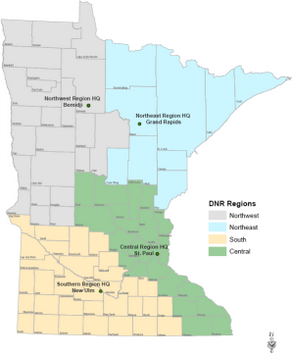 map of dnr aquatic invasive species contacts