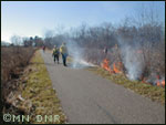 Prescribed burn on the Gateway Trail.