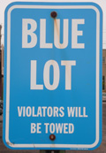 Photos of the blue lot sign