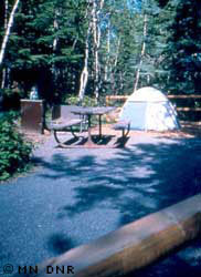 An accessible campsite.
