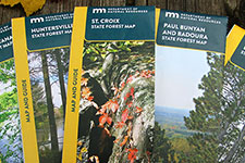 view of the six new state forest paper maps.