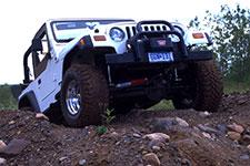 White OHV jeep