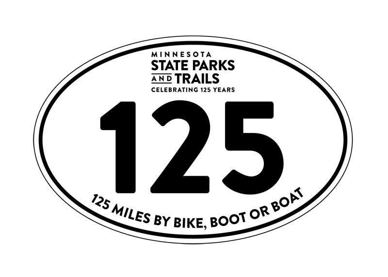 125 Mile Challenge - Finishers Sticker