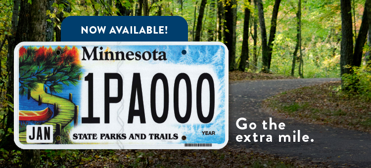 New Minnesota State Parks license plate