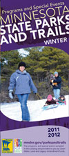 Cover of the winter Minnesota State Parks Programs & Special Events guide