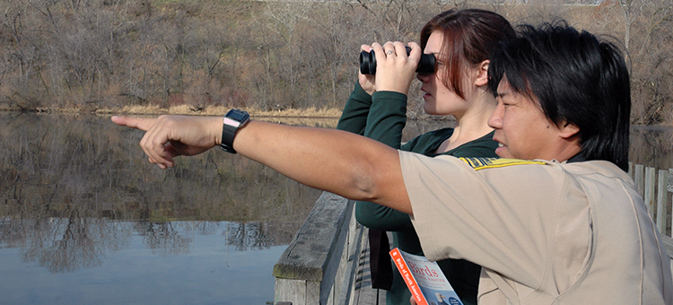 Birders in a Minnesota State Park.