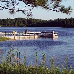 A fishing pier.
