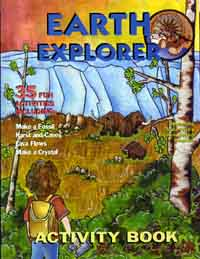 Earth Explorer activity booklet for kids.