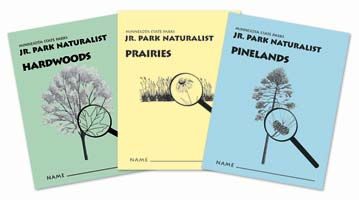 covers of the Junior Park Naturalists booklets
