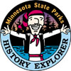 Picture of the patch you can earn for completing the Minnesota State Parks History Explorer program