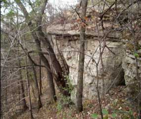 Photo of a rocky outcrop.