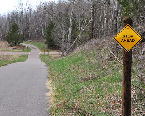 Paved Mountain Biking trail