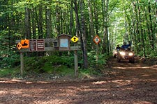ATV riders on a trail