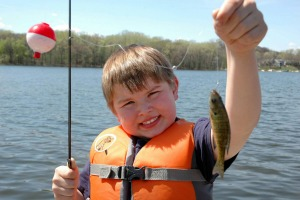 Photo of a young fisherman.