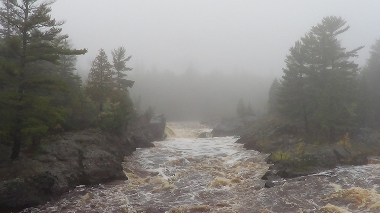 River fog within Jay Cooke State Park State.