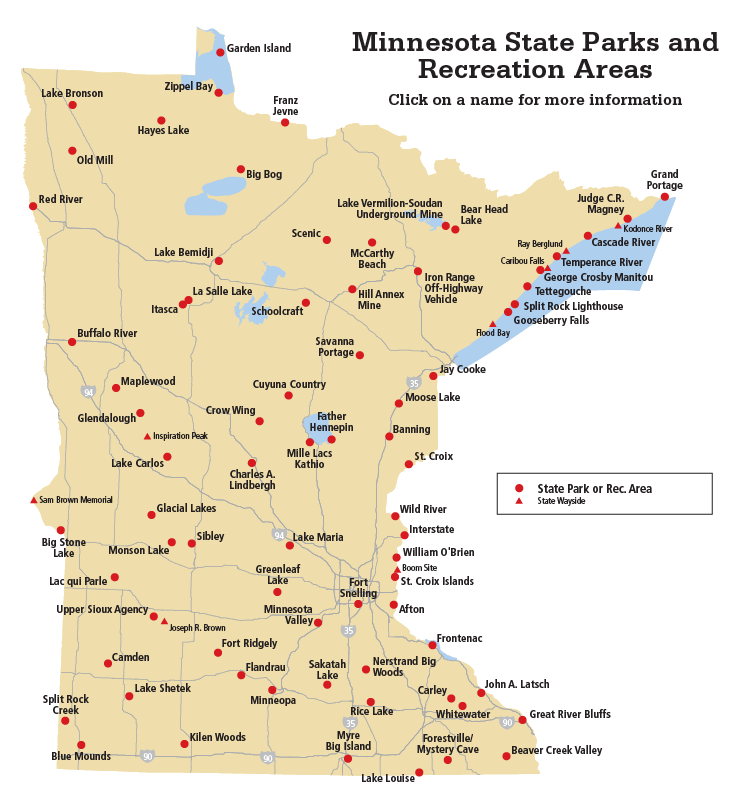 Find a state park by location map