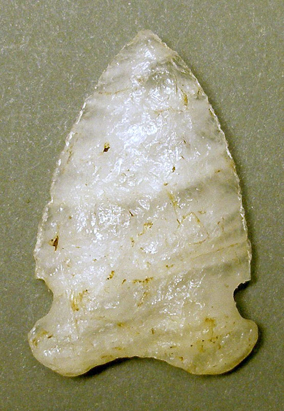 Photo of an arrowhead found at Petaga Point