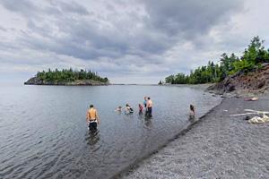 Photo of the Pebble Beach shoreline along Lake Superior.