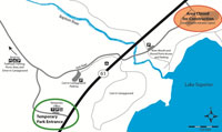 Thumbnail of the temporary entrance map to Tettegouche State Park