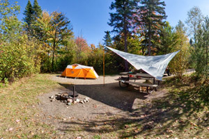 Photo of one of the park's 73 campsites.