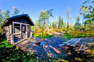 Photo of one of the five camper cabins at the park.