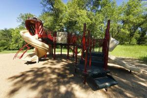 Photo of playground located at the beach near the lower campground.