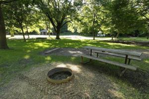 Photo of the campground facilities near the Redwood River.