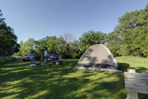 Photo of campers using the upper campground.