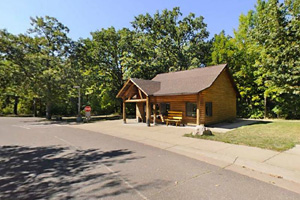 Photo of the park office located off Lindbergh Drive.